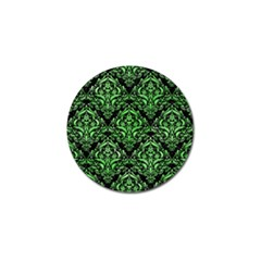 Damask1 Black Marble & Green Watercolor Golf Ball Marker (10 Pack)