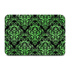 Damask1 Black Marble & Green Watercolor Plate Mats by trendistuff