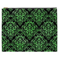 Damask1 Black Marble & Green Watercolor Cosmetic Bag (xxxl)  by trendistuff