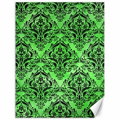 Damask1 Black Marble & Green Watercolor (r) Canvas 18  X 24   by trendistuff
