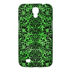 Damask2 Black Marble & Green Watercolor (r) Samsung Galaxy Mega 6 3  I9200 Hardshell Case