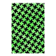 Houndstooth2 Black Marble & Green Watercolor Shower Curtain 48  X 72  (small)  by trendistuff