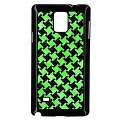 Houndstooth2 Black Marble & Green Watercolor Samsung Galaxy Note 4 Case (black)
