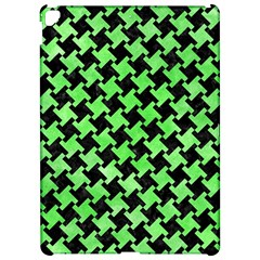 Houndstooth2 Black Marble & Green Watercolor Apple Ipad Pro 12 9   Hardshell Case by trendistuff