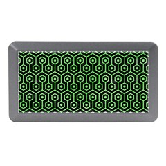 Hexagon1 Black Marble & Green Watercolor Memory Card Reader (mini)