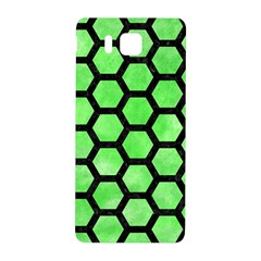 Hexagon2 Black Marble & Green Watercolor (r) Samsung Galaxy Alpha Hardshell Back Case by trendistuff