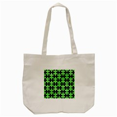 Puzzle1 Black Marble & Green Watercolor Tote Bag (cream) by trendistuff