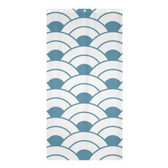 Art Deco,shell Pattern,teal,white Shower Curtain 36  X 72  (stall)  by 8fugoso