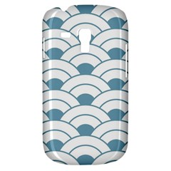 Art Deco,shell Pattern,teal,white Galaxy S3 Mini by 8fugoso