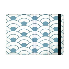 Art Deco,shell Pattern,teal,white Ipad Mini 2 Flip Cases by 8fugoso