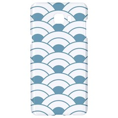 Art Deco,shell Pattern,teal,white Samsung C9 Pro Hardshell Case  by 8fugoso