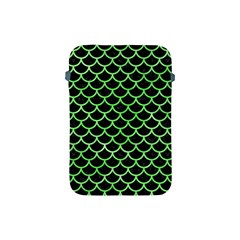 Scales1 Black Marble & Green Watercolor Apple Ipad Mini Protective Soft Cases by trendistuff
