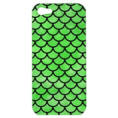 Scales1 Black Marble & Green Watercolor (r) Apple Iphone 5 Hardshell Case by trendistuff