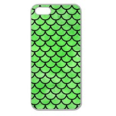 Scales1 Black Marble & Green Watercolor (r) Apple Seamless Iphone 5 Case (clear) by trendistuff