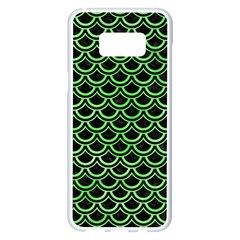 Scales2 Black Marble & Green Watercolor Samsung Galaxy S8 Plus White Seamless Case by trendistuff