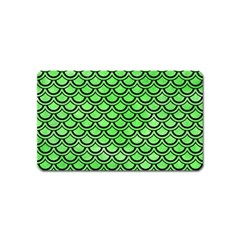 Scales2 Black Marble & Green Watercolor (r) Magnet (name Card) by trendistuff