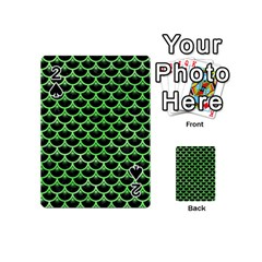 Scales3 Black Marble & Green Watercolor Playing Cards 54 (mini)  by trendistuff