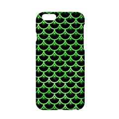 Scales3 Black Marble & Green Watercolor Apple Iphone 6/6s Hardshell Case by trendistuff