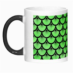 Scales3 Black Marble & Green Watercolor (r) Morph Mugs by trendistuff