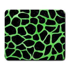 Skin1 Black Marble & Green Watercolor (r) Large Mousepads by trendistuff