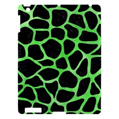 Skin1 Black Marble & Green Watercolor (r) Apple Ipad 3/4 Hardshell Case by trendistuff