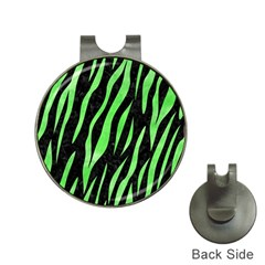 Skin3 Black Marble & Green Watercolor Hat Clips With Golf Markers by trendistuff