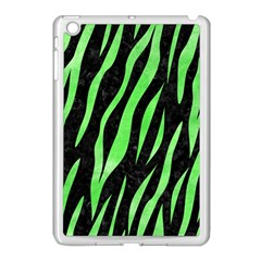 Skin3 Black Marble & Green Watercolor Apple Ipad Mini Case (white)