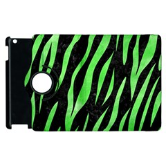 Skin3 Black Marble & Green Watercolor Apple Ipad 2 Flip 360 Case by trendistuff