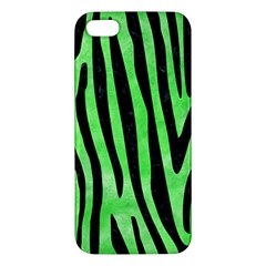 Skin4 Black Marble & Green Watercolor Apple Iphone 5 Premium Hardshell Case