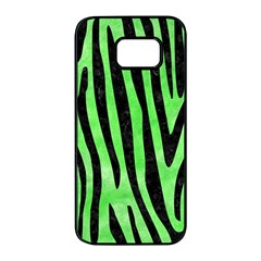 Skin4 Black Marble & Green Watercolor Samsung Galaxy S7 Edge Black Seamless Case by trendistuff