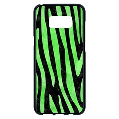 Skin4 Black Marble & Green Watercolor (r) Samsung Galaxy S8 Plus Black Seamless Case by trendistuff