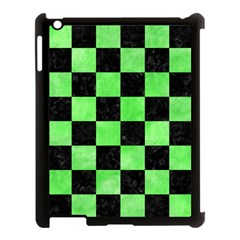 Square1 Black Marble & Green Watercolor Apple Ipad 3/4 Case (black) by trendistuff