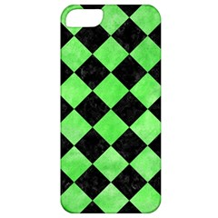 Square2 Black Marble & Green Watercolor Apple Iphone 5 Classic Hardshell Case by trendistuff