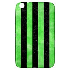 Stripes1 Black Marble & Green Watercolor Samsung Galaxy Tab 3 (8 ) T3100 Hardshell Case  by trendistuff
