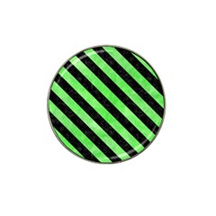 Stripes3 Black Marble & Green Watercolor (r) Hat Clip Ball Marker (10 Pack) by trendistuff