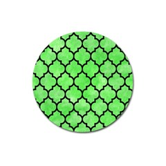 Tile1 Black Marble & Green Watercolor (r) Magnet 3  (round) by trendistuff