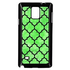 Tile1 Black Marble & Green Watercolor (r) Samsung Galaxy Note 4 Case (black)
