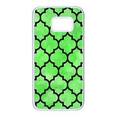 Tile1 Black Marble & Green Watercolor (r) Samsung Galaxy S7 White Seamless Case