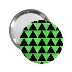 Triangle2 Black Marble & Green Watercolor 2 25  Handbag Mirrors by trendistuff
