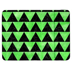 Triangle2 Black Marble & Green Watercolor Samsung Galaxy Tab 7  P1000 Flip Case by trendistuff