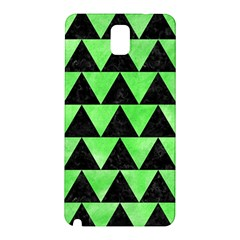 Triangle2 Black Marble & Green Watercolor Samsung Galaxy Note 3 N9005 Hardshell Back Case by trendistuff