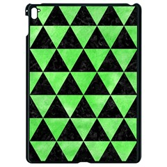Triangle3 Black Marble & Green Watercolor Apple Ipad Pro 9 7   Black Seamless Case by trendistuff