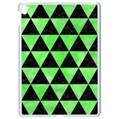 Triangle3 Black Marble & Green Watercolor Apple Ipad Pro 9 7   White Seamless Case by trendistuff
