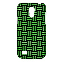 Woven1 Black Marble & Green Watercolor Galaxy S4 Mini by trendistuff