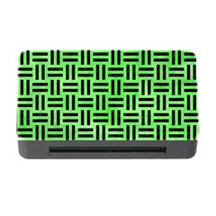 Woven1 Black Marble & Green Watercolor (r) Memory Card Reader With Cf