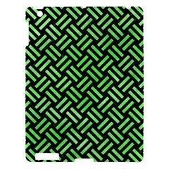 Woven2 Black Marble & Green Watercolor Apple Ipad 3/4 Hardshell Case by trendistuff