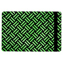 Woven2 Black Marble & Green Watercolor Ipad Air Flip by trendistuff