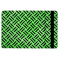 Woven2 Black Marble & Green Watercolor (r) Ipad Air 2 Flip by trendistuff