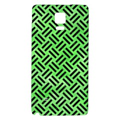 Woven2 Black Marble & Green Watercolor (r) Galaxy Note 4 Back Case by trendistuff