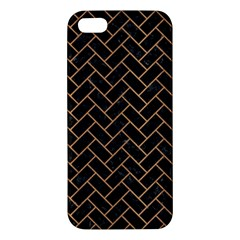 Brick2 Black Marble & Light Maple Wood Iphone 5s/ Se Premium Hardshell Case by trendistuff